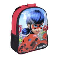 MOCHILA ESCOLAR REVERSIBLE  LADY BUG  1