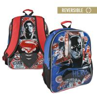 BACKPACK SCHOOL REVERSIBLE BATMANVSSUPERMAN
