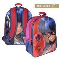 MOCHILA ESCOLAR REVERSIBLE  LADY BUG