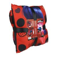 PLAID + CUSHION SET LADY BUG 1