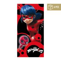 BEACH TOWEL COTTON LADY BUG