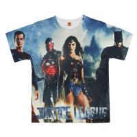 T-SHIRT PREMIUM MANCHES COURTES JUSTICE LEAGUE