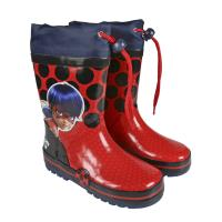 RAIN BOOTS RUBBER LADY BUG  1
