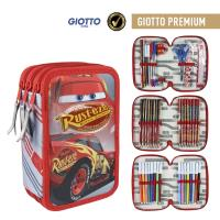 FILLED PENCIL CASE TRIPLE GIOTTO PREMIUM CARS 3