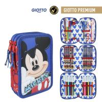 FILLED PENCIL CASE TRIPLE GIOTTO PREMIUM MICKEY