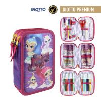 FILLED PENCIL CASE TRIPLE GIOTTO PREMIUM SHIMMER AND SHINE